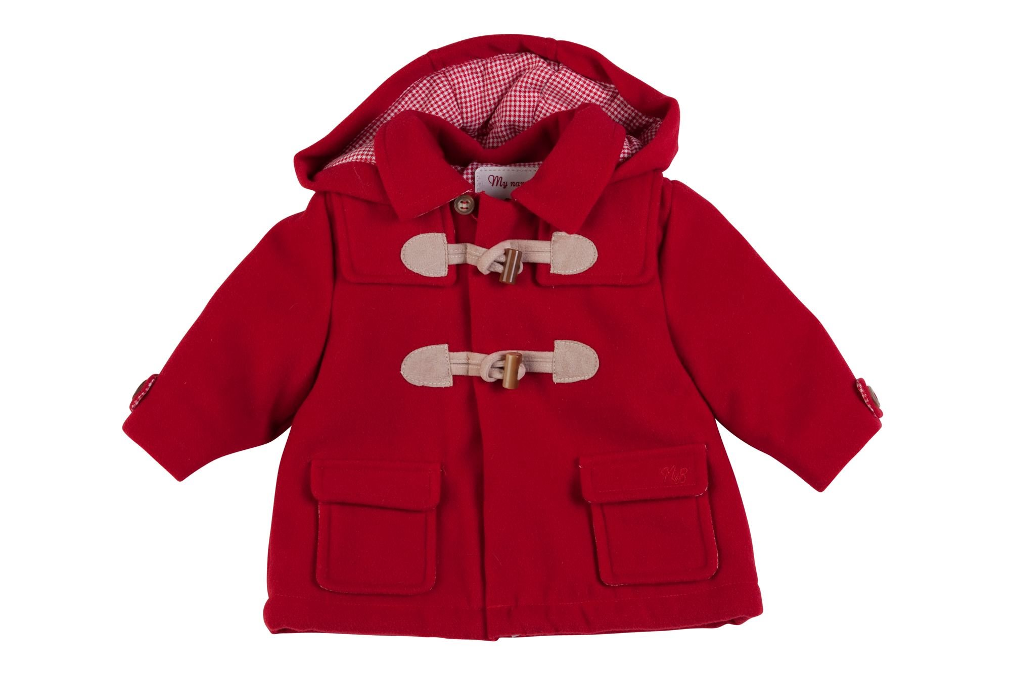 MAYORAL RED Baby Boy Duffle Coat 2404 | Little VIPs