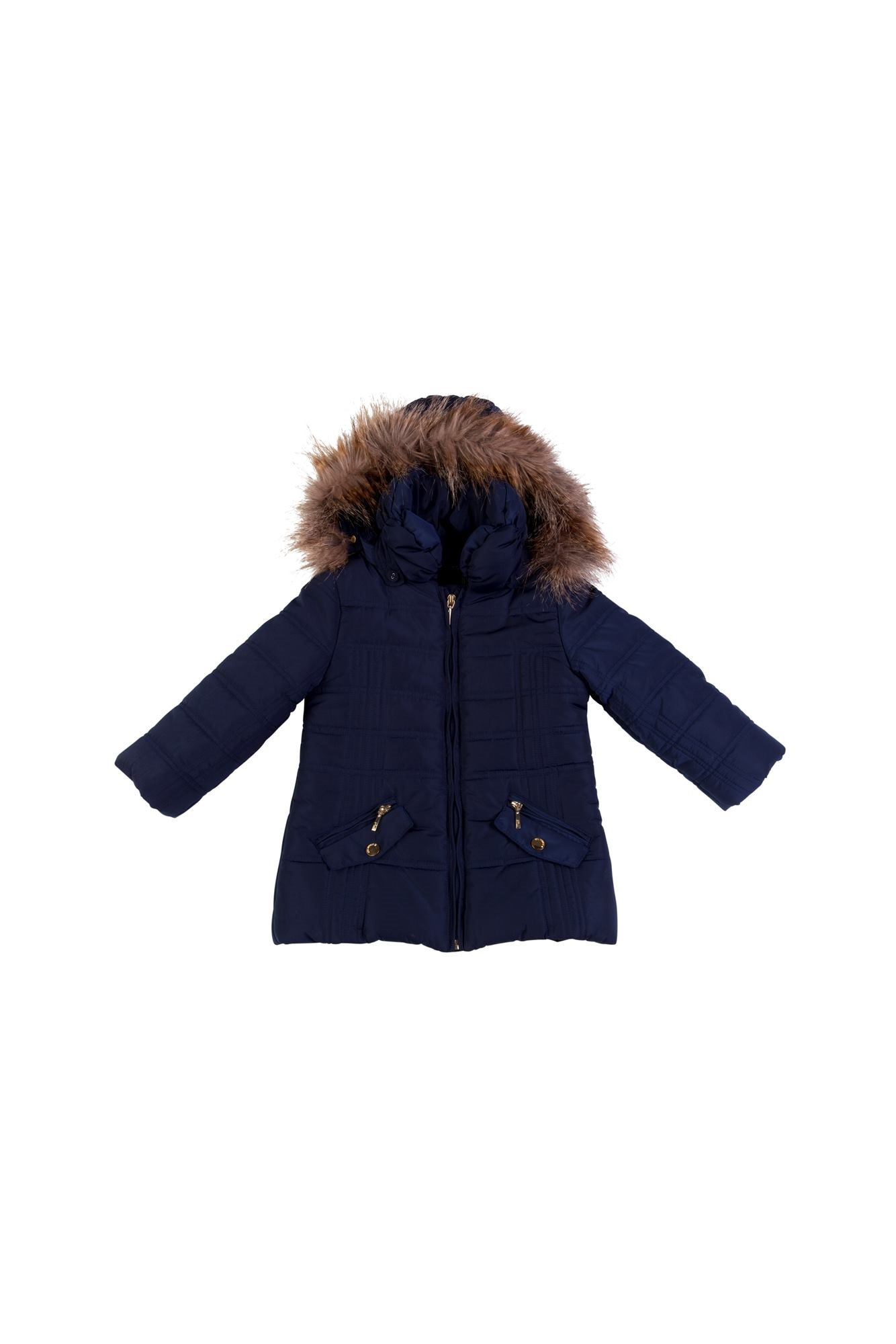 MAYORAL NAVY Girls Coat 4461 | Little VIPs