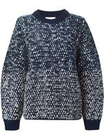 See by Chloe Flecked Chunky Knit Sweater Navy Was: £320.00 Now: £256.00