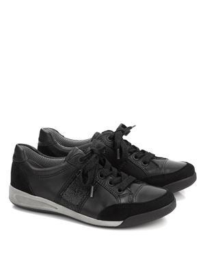 Ara Ara 34429 leather trainer Black Was: £99.00 Now: £39.00