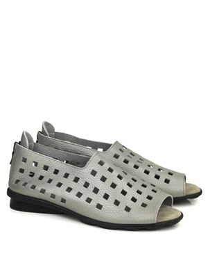 Arche Arche Drick fast metal leather sandals Zinc Was: £145.00 Now: £94.00