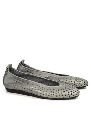 Arche Arche Lily fast metal perforated leather pump Zinc £149.99