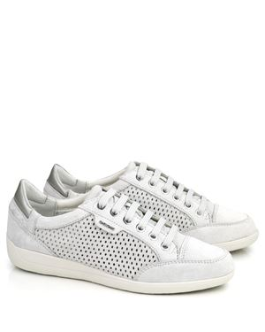 Geox Geox Myria D6268B perferated suede sneaker Off White Was: £90.00 Now: £58.00