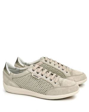Geox Geox Myria D6268B perferated suede sneaker Taupe Was: £90.00 Now: £58.00