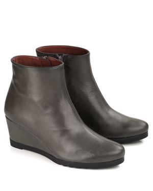 Hispanitas April Nappa Leather Wedge Boot Vison Was: £140.00 Now: £105.00