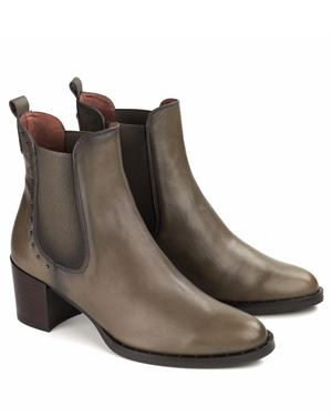 Hispanitas Dakota Gusset Ankle Boot Taupe Was: £149.99 Now: £112.50