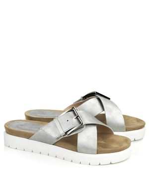 Ilse Jacobsen Ilse Jacobsen Poppie sandal with buckle Silver Was: £55.00 Now: £35.00