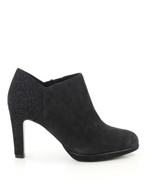 JB Martin Amelia suede and stingray ankle boot Carbon Was: £130.00 Now: £65.00