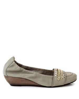 Kennel & Schmenger 31730 Washed Suede wedge Taupe Was: £170.00 Now: £69.00