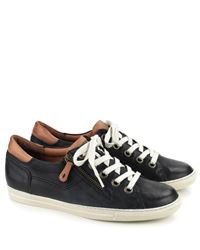 76d59d8e8f1a53 Paul Green Leather Lace Up Sneakers 4128 Ocean Cuoio (042) £145.00 ...