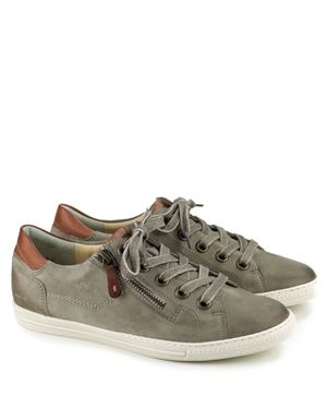 Paul Green Leather Lace Up Sneakers 4128 Taupe Cuoio (322) £145.00