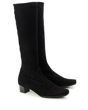 Peter Kaiser Aila Stretch Suede Boot Black Was: £189.00 Now: £142.00