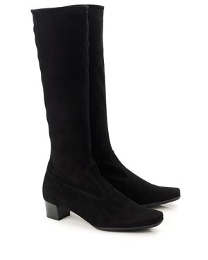 Peter Kaiser Aila stretch suede knee high boot Black Was: £220.00 Now: £185.00