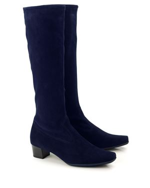 Peter Kaiser Aila stretch suede knee high boot Navy Was: £220.00 Now: £185.00