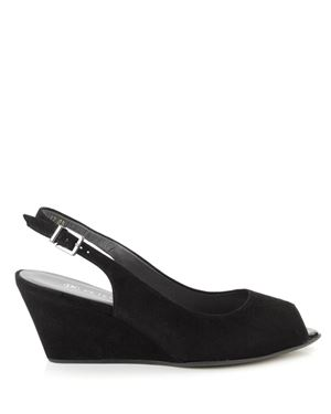 Peter Kaiser Alizee suede slingback wedge Black Was: £125.00 Now: £55.00