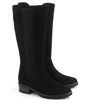 Peter Kaiser Berlyn suede gusset boot Black Was: £195.00 Now: £97.50