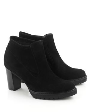 Peter Kaiser Edina suede high heel  ankle boot Black Was: £175.00 Now: £69.00