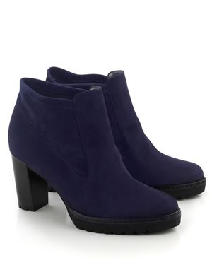 Peter Kaiser Edina suede high heel  ankle boot Navy Was: £175.00 Now: £69.00