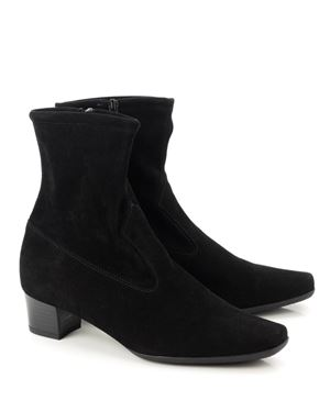 Peter Kaiser Gene stretch suede ankle boot Black Was: £170.00 Now: £140.00