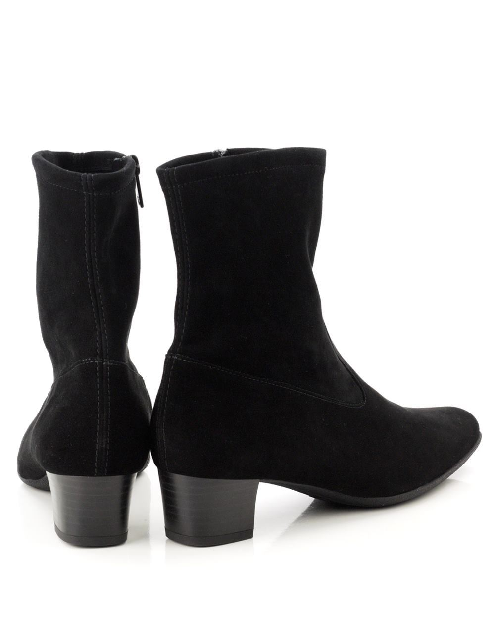 kaiser gene stretch suede ankle boot black shoe room