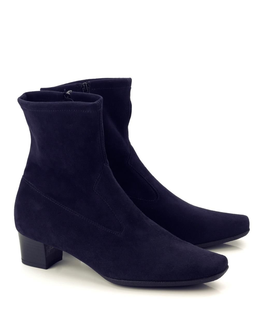 kaiser gene stretch suede ankle boot navy shoe room