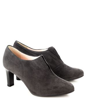 Peter Kaiser Hanara suede shoe with front gusset Carbon Was: £125.00 Now: £89.00
