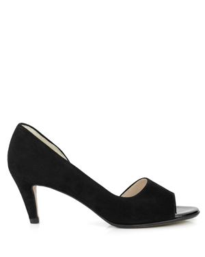 Peter Kaiser Jamala Suede open toe heeled shoe Black Was: £115.00 Now: £49.00