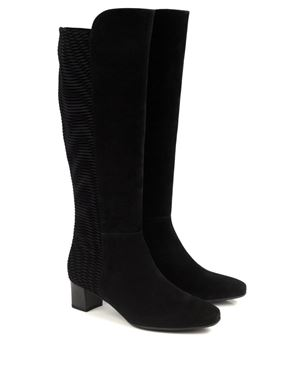 Peter Kaiser Olara Suede Combi Boots Black Was: £209.00 Now: £157.00