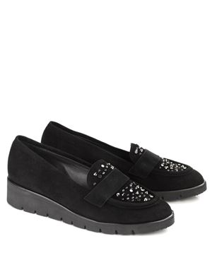 Peter Kaiser Zamiza Suede Wedge Loafer Black £169.00