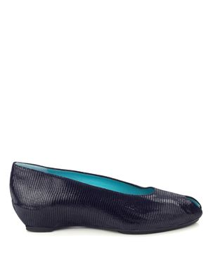 Thierry Rabotin Thierry Rabotin shoes - 3900 Sahara peeptoe wedges Navy Was: £210.00 Now: £105.00