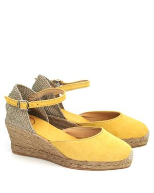 Toni Pons Lloret 5 suede espadrille wedge Yellow £69.00