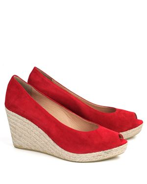 Toni Pons Toni Pons Berlin suede peeptoe espadrille Red Was: £89.00 Now: £40.00