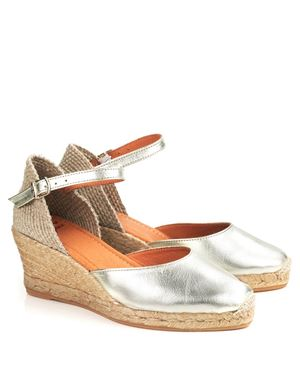 Toni Pons Toni Pons Costa 5 Metallic espadrille Platinum Was: £75.00 Now: £39.00