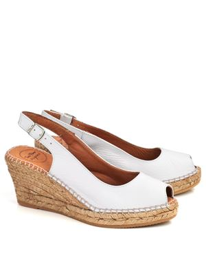 Toni Pons Toni Pons Croacia leather espadrille White £70.00