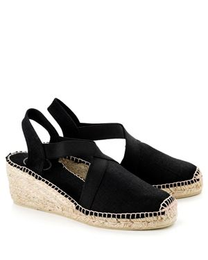 Toni Pons Toni Pons Ter linen espadrille medium wedge Black £49.00