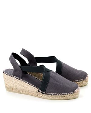 Toni Pons Toni Pons Ter linen espadrille medium wedge Grey £49.00