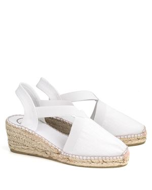 Toni Pons Toni Pons Ter linen espadrille medium wedge White £49.00
