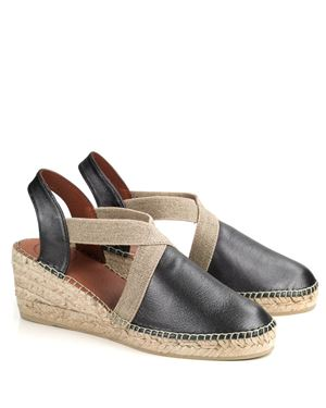 Toni Pons Toni Pons Tossa leather espadrille wedge Lead Was: £65.00 Now: £52.00