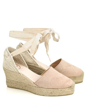 Toni Pons Toni Pons Vent ankle lace high platform espadrille Pink Was: £59.50 Now: £35.00