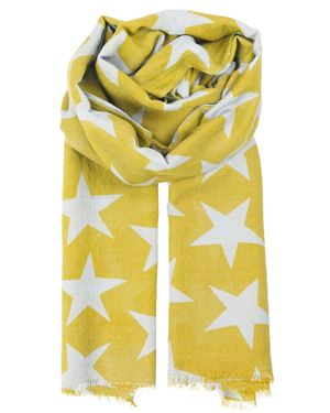 Becksondergaard Supernova Star Print Wool And Silk Scarf Freesia £70.00