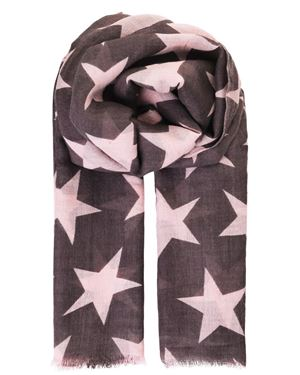 Becksondergaard Supersize Nova Star Print Wool And Silk Scarf Candy £70.00