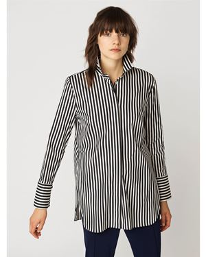 By Malene Birger Tiranamus Stripe Shirt Black Was: £169.00 Now: £118.30