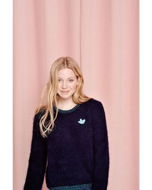 Des Petits Hauts Abidjan Sweater Blue Was: £170.00 Now: £119.00