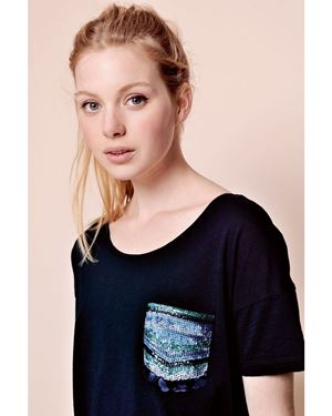 Des Petits Hauts Ficaro T-shirt Blue Was: £85.00 Now: £59.50