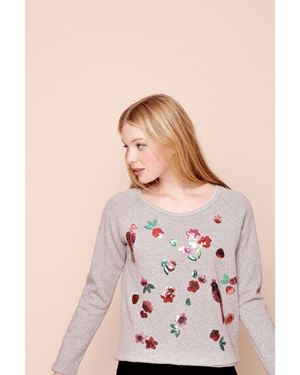 Des Petits Hauts Idana Sweatshirt Grey Was: £165.00 Now: £115.50