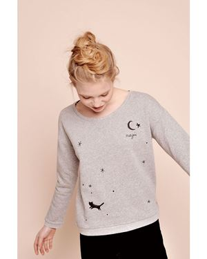 Des Petits Hauts Idavla Sweatshirt Grey Was: £115.00 Now: £80.50