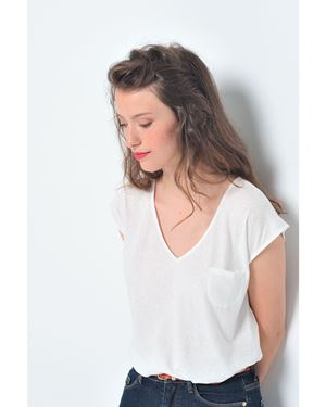 Des Petits Hauts Kasilou T-shirt white Was: £89.00 Now: £44.50