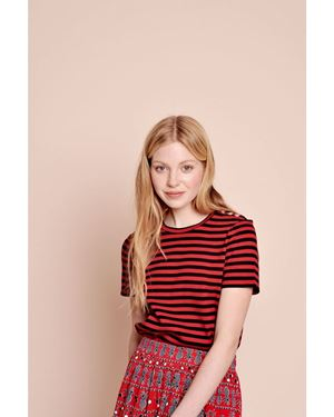 Des Petits Hauts Myosali Stripe T-shirt RedBlue Was: £80.00 Now: £56.00