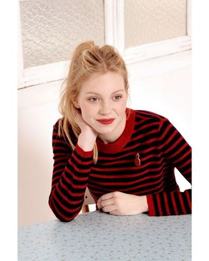 Des Petits Hauts Pullover Buto Red Was: £175.00 Now: £122.50