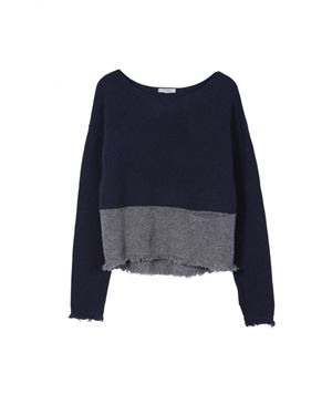 Hunkydory Hunkydory Foster Knit Navy Was: £160.00 Now: £80.00